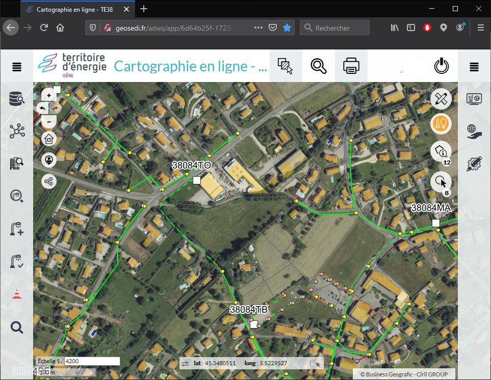 Cartographie Cassini TE38