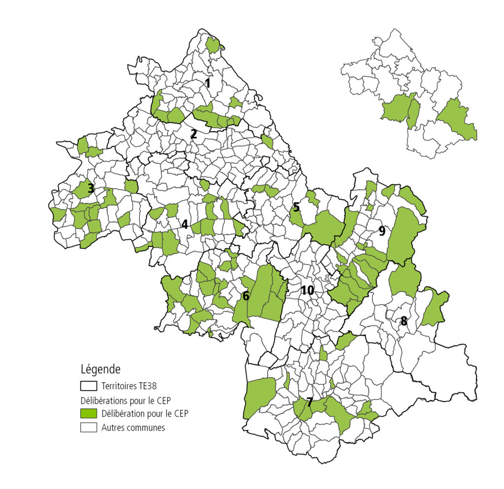 Carte des adhésions au service CEP