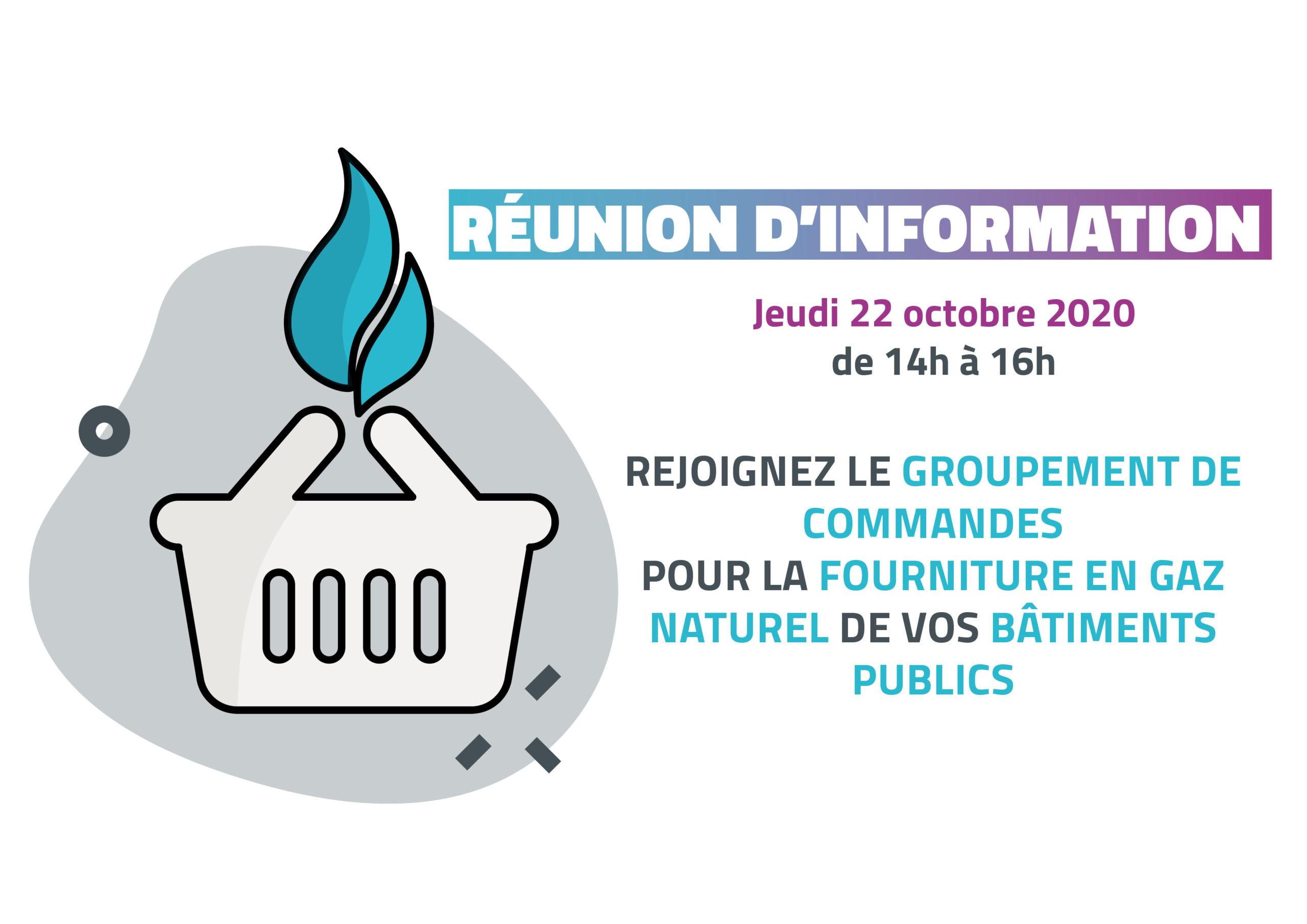 Réunion d'information – Rejoignez le groupement de commandes pour la fourniture en gaz naturel de vos bâtiments publics !